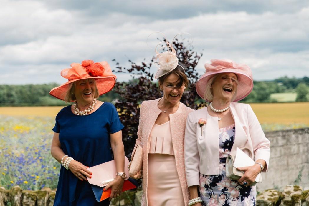 wedding ladies with hats