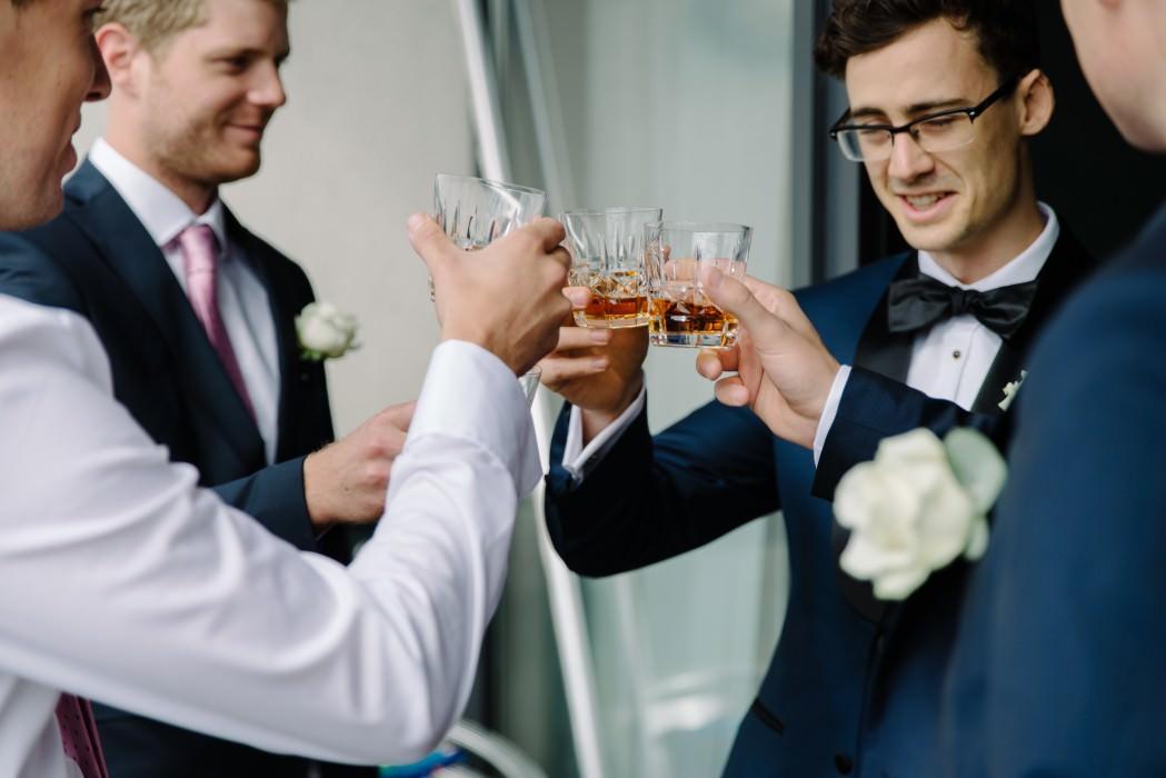 groomsmen whisky toast
