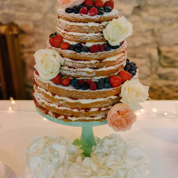 wedding cake naked cake