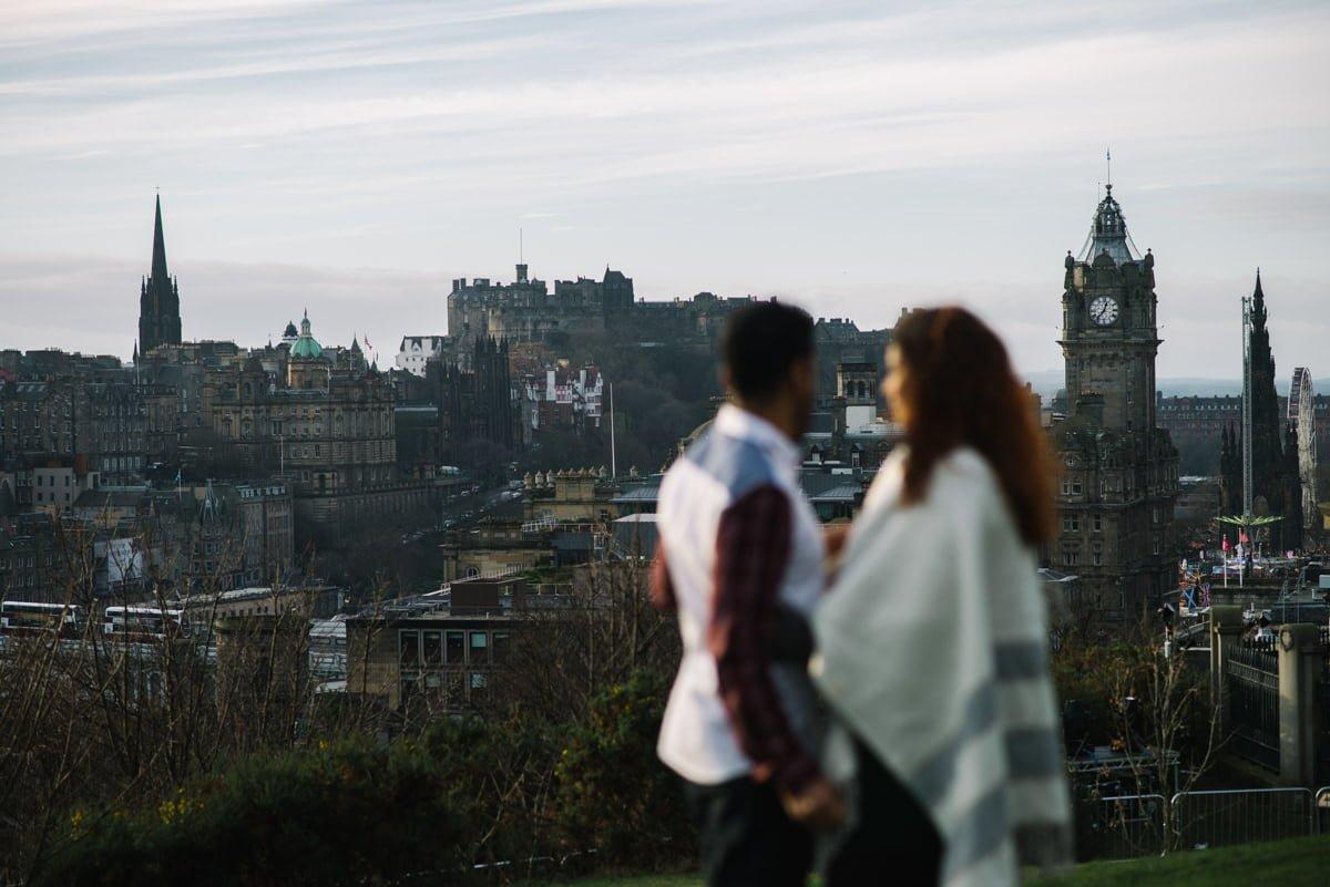 Couple with Edinburgh Castle
