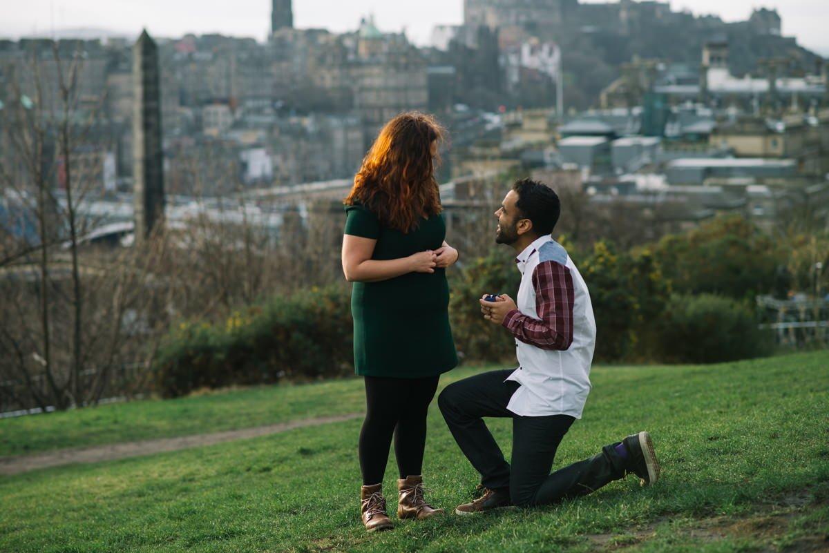 Sahir down on one knee