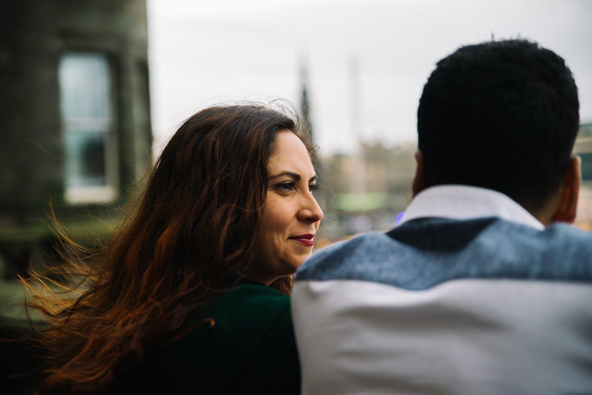 Karen and Sahir overlooking Princes Street