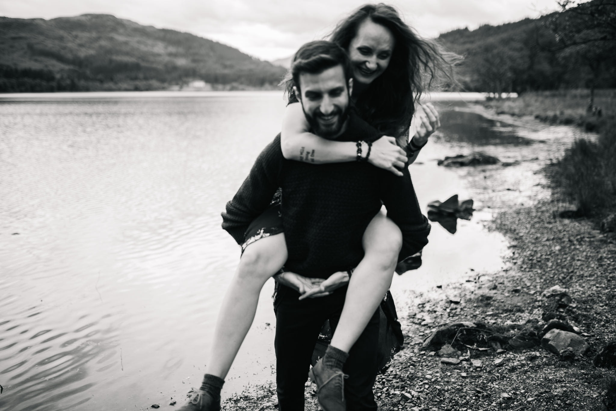 couple picggyback