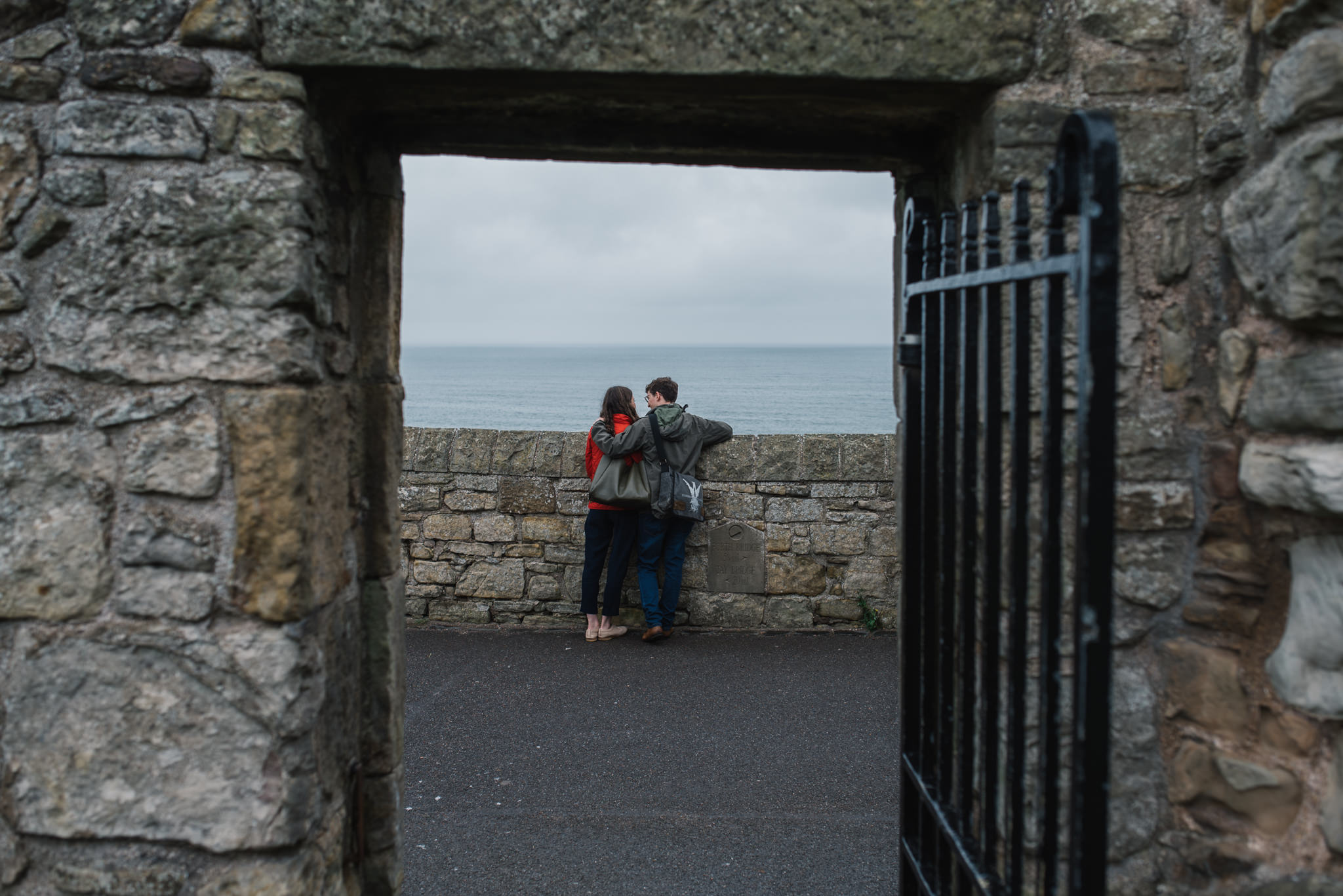 Sarah's and Ian's Engagement Shoot in St. Andrews 15