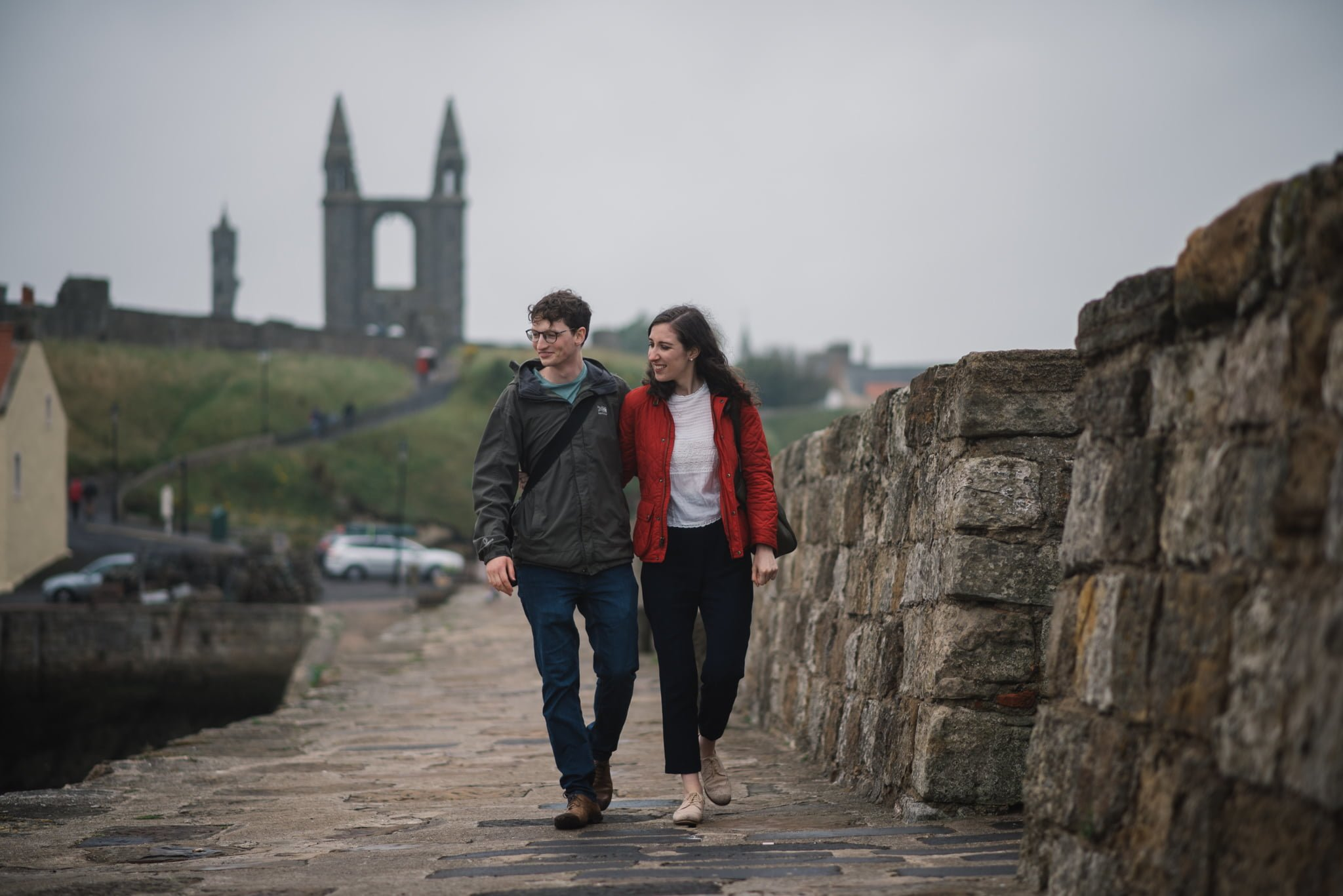 Sarah's and Ian's Engagement Shoot in St. Andrews 21