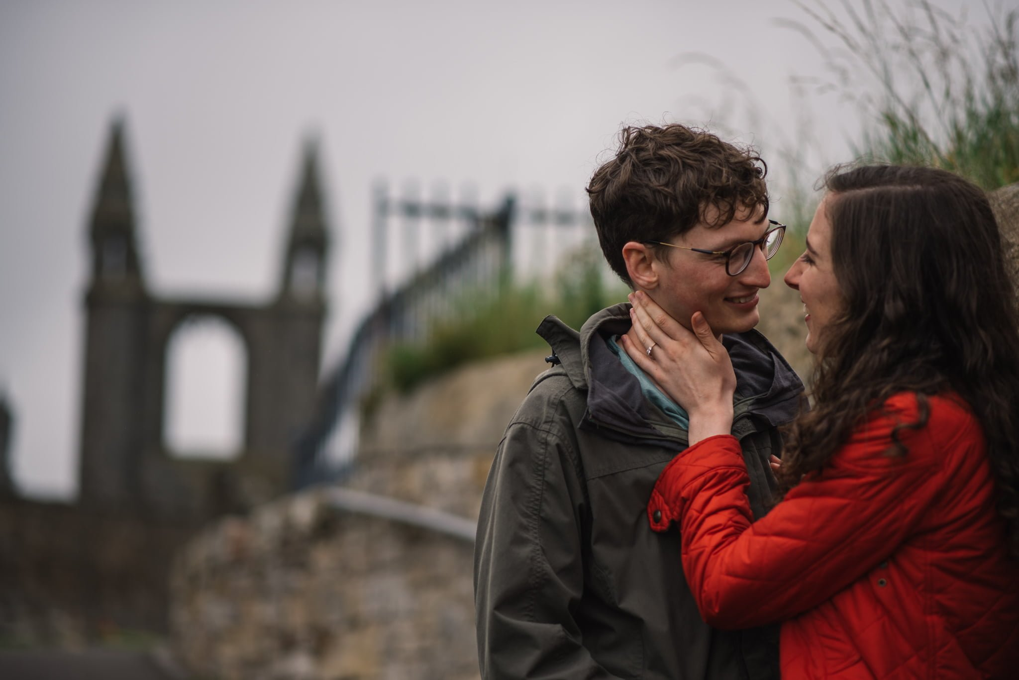 Sarah's and Ian's Engagement Shoot in St. Andrews 23