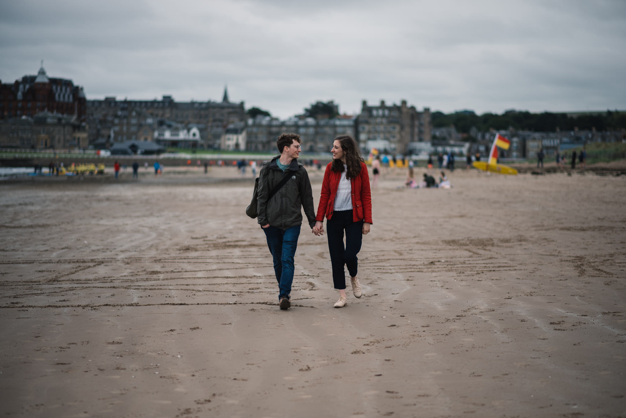 couple beach st andrews