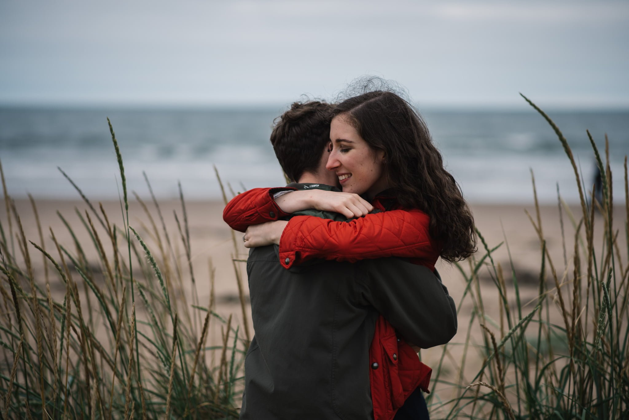 Sarah's and Ian's Engagement Shoot in St. Andrews 38