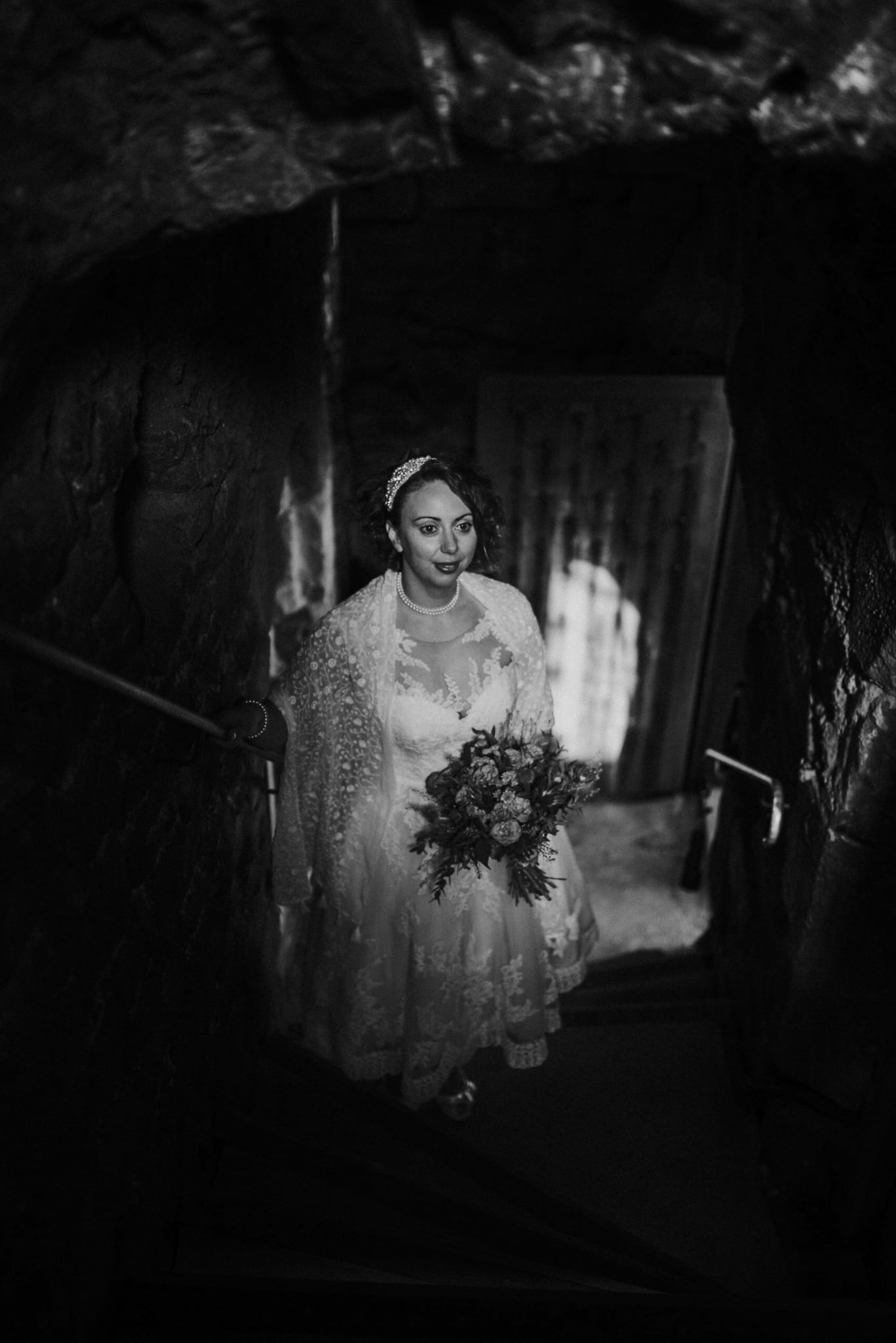 bride inside portencross castle