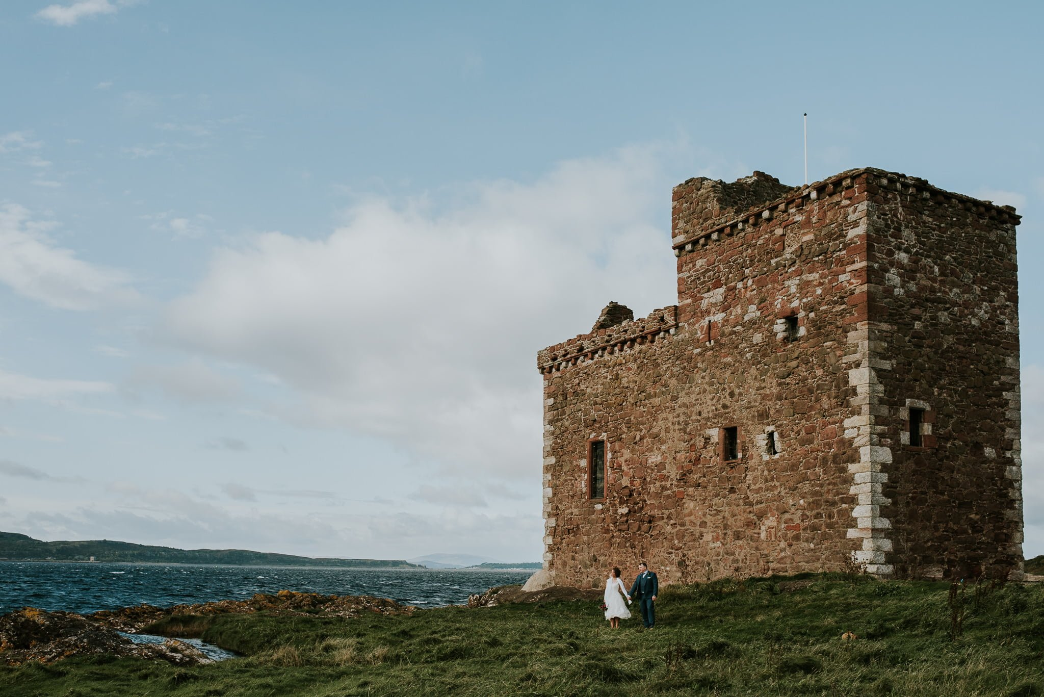 couple portencross castle