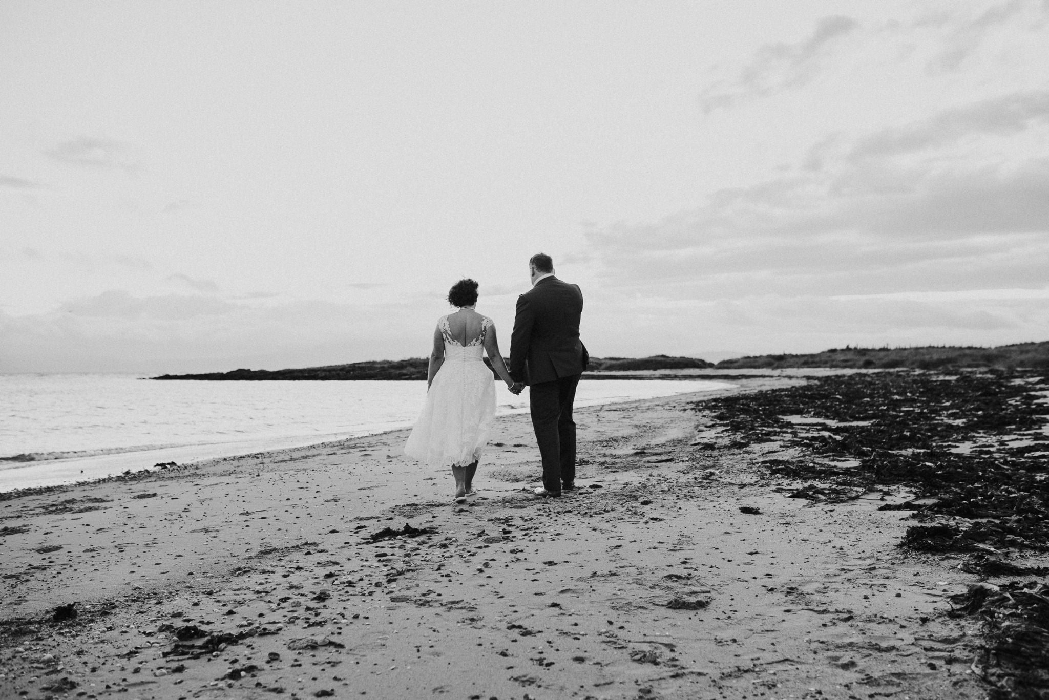 couple on beach in ayrshire