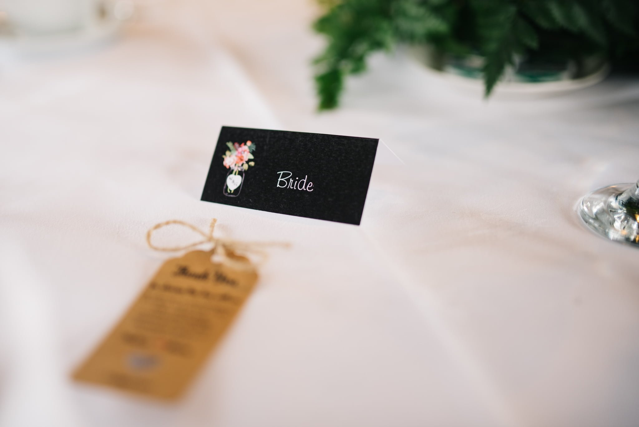 table setting bride