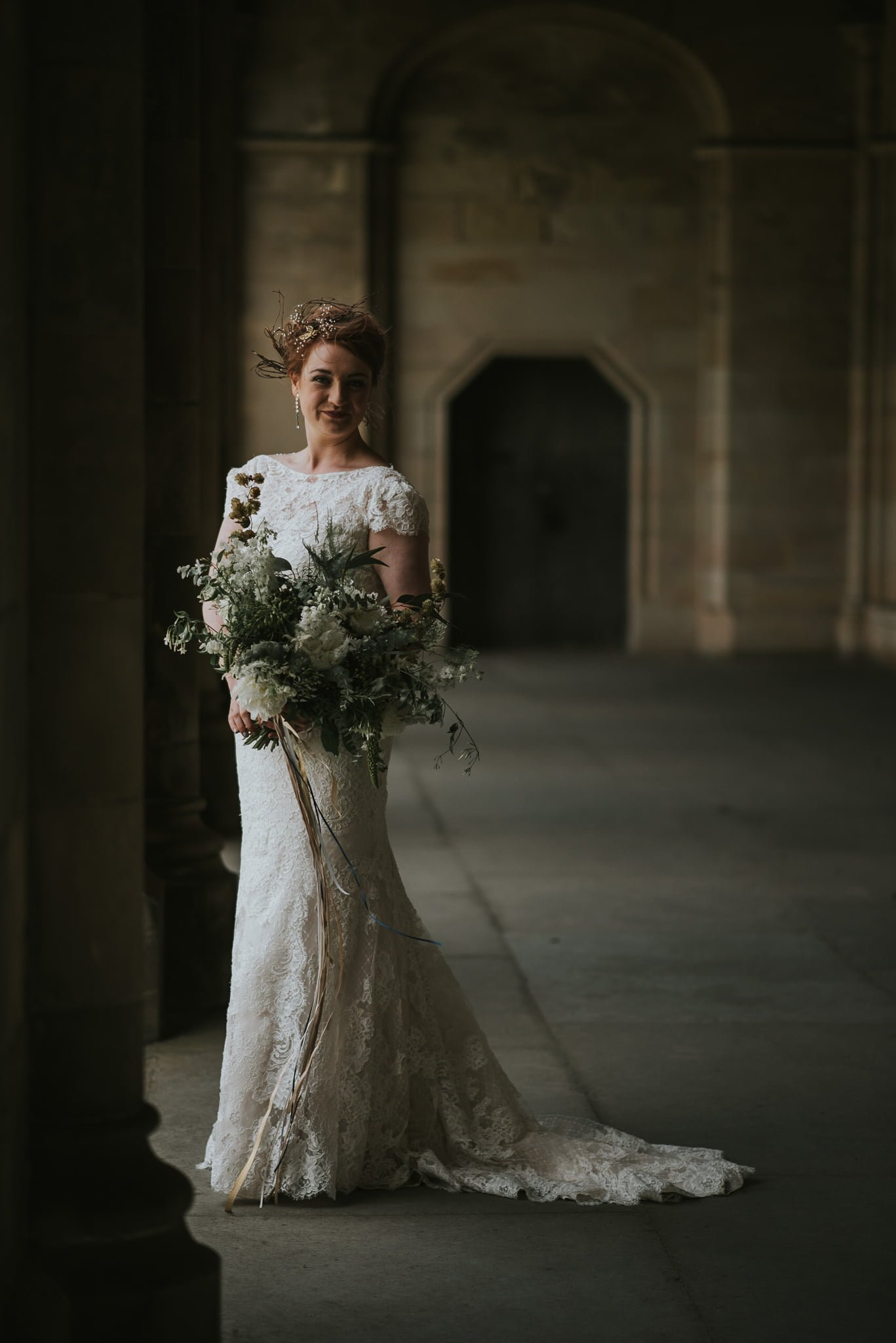 bride in cloisters of st. salvator