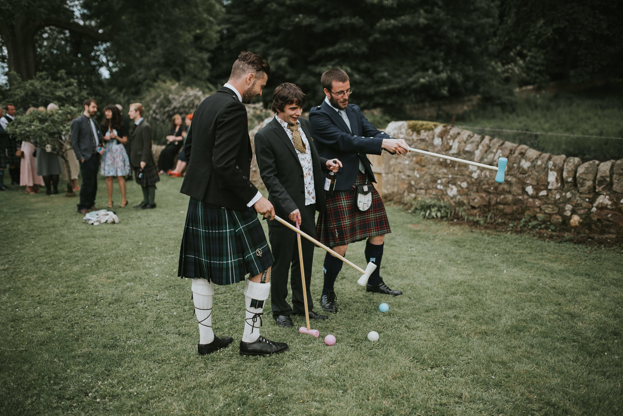 croquet at a wedding