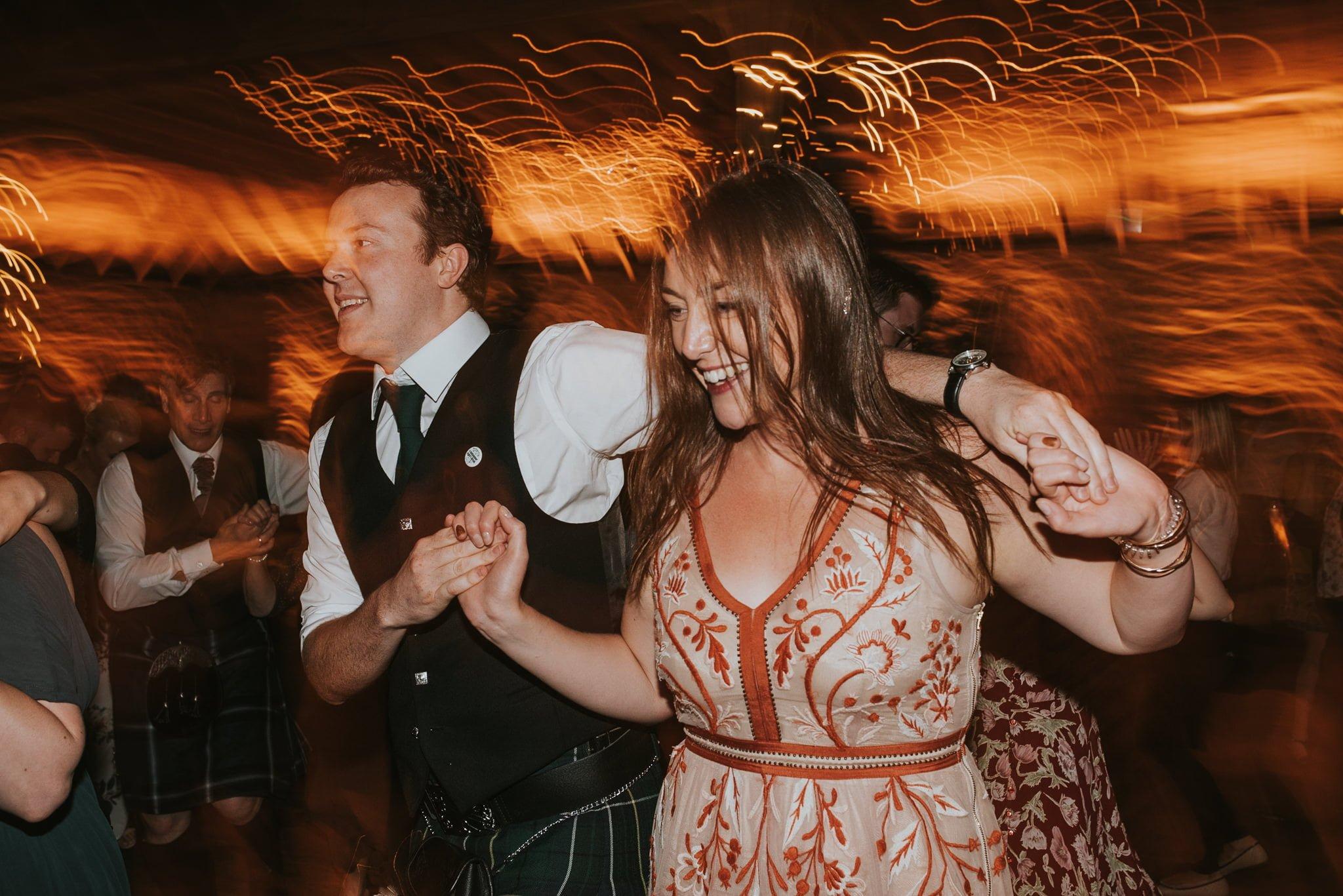 ceilidh dancing at kinkell byre