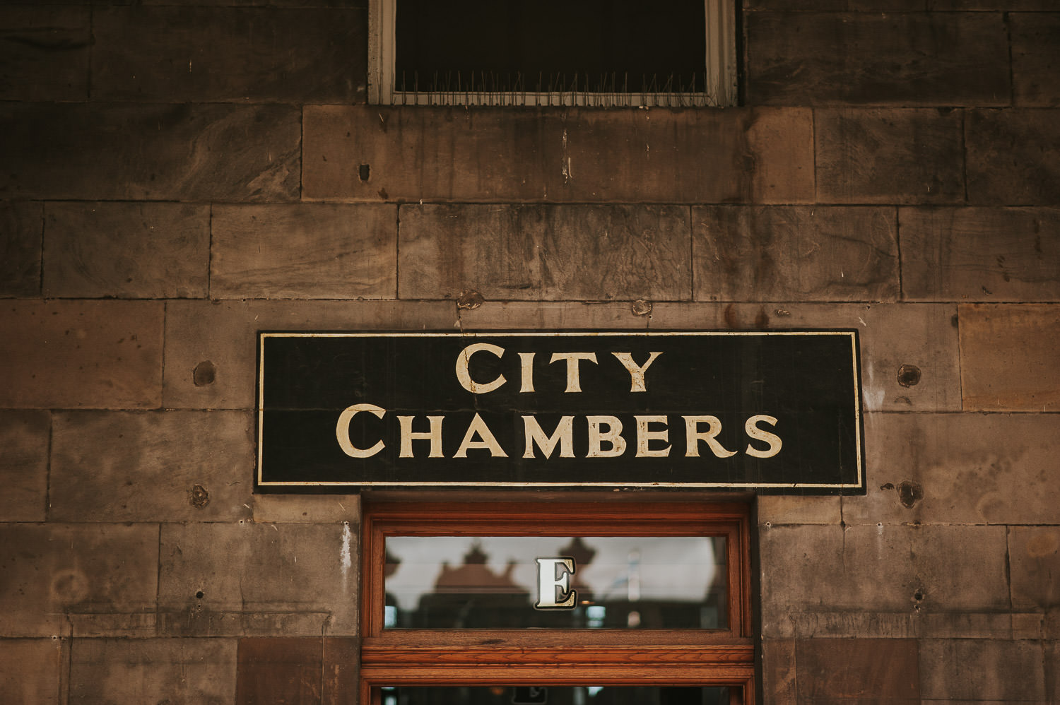 entrance sign for Edingburgh City Chambers