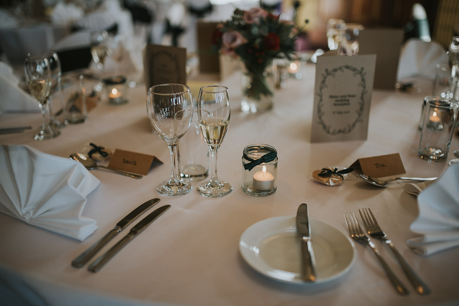 wedding breakfast table details