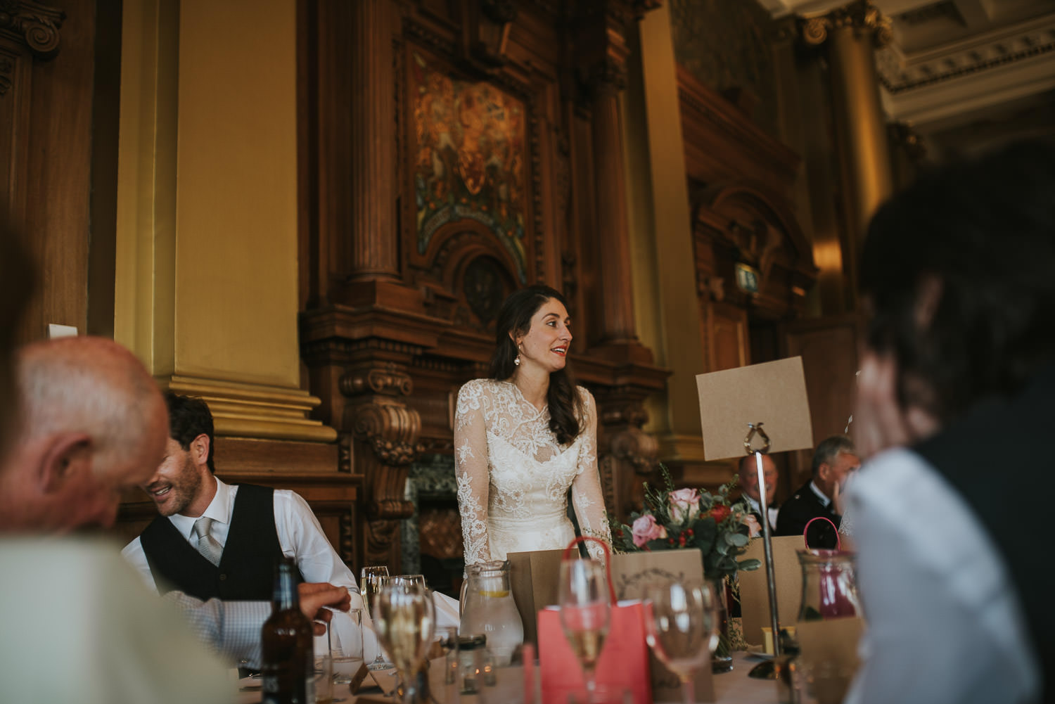 bride giving a speech
