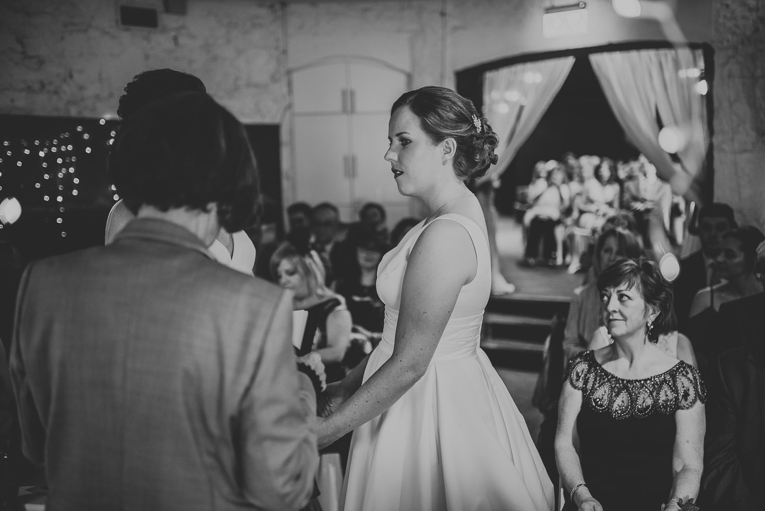 first bride during the vows
