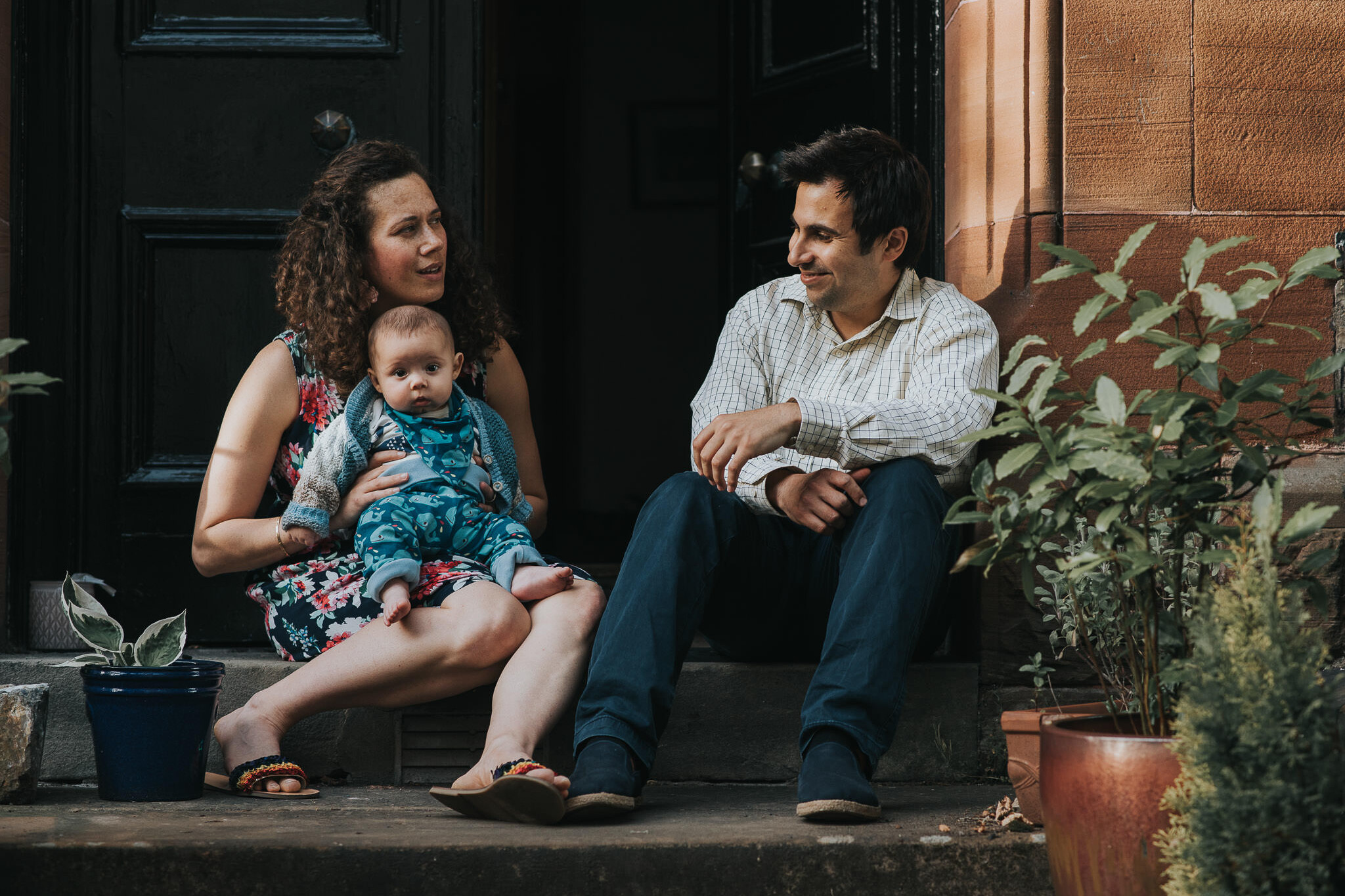 Doorstep Family Portrait Shoot