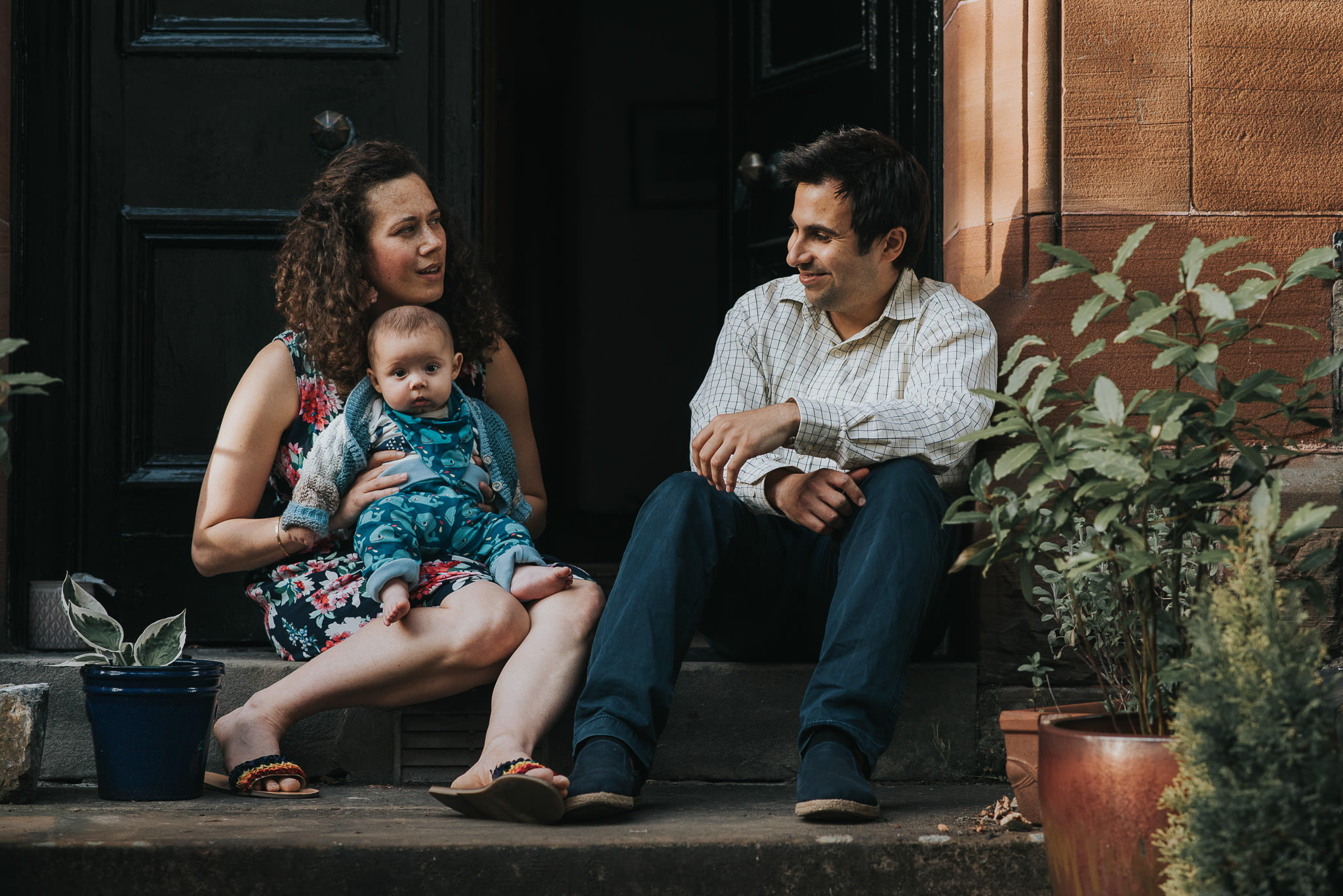 Doorstep Family Portrait Shoot